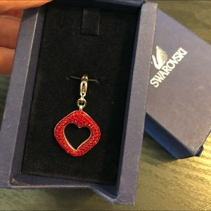 Swarovski Red Sapphire Heart Charm
